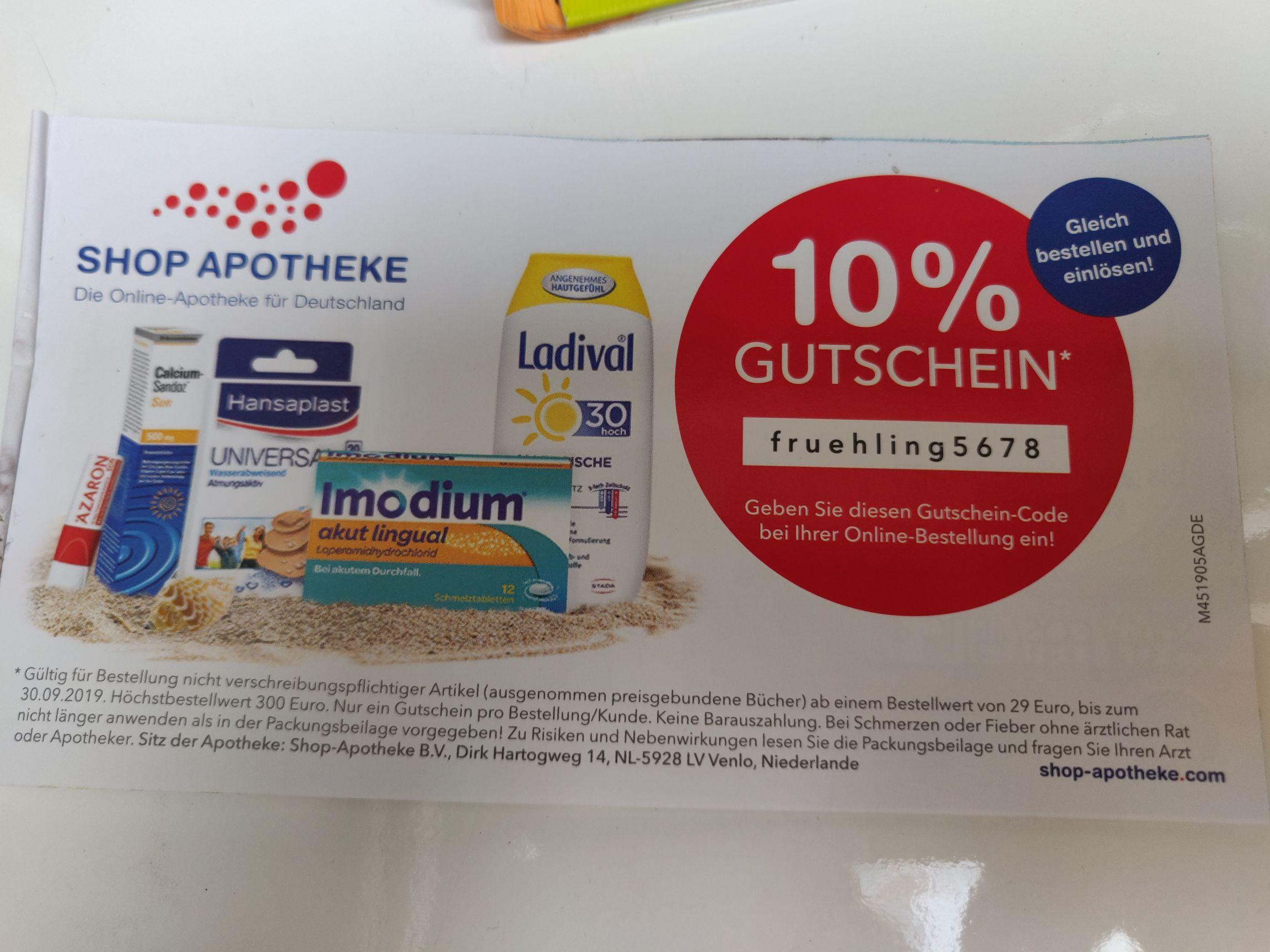 -10% ab 29€ / Shop-apotheke.com /DE