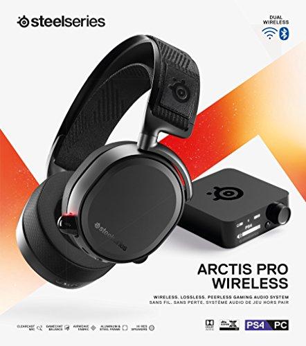 SteelSeries Arctis Pro Wireless Drahtlos Gaming-Headset – hochauflösende Lautsprechertreiber – kombiniertes Funksystem (2,4 GHz & Bluetooth)