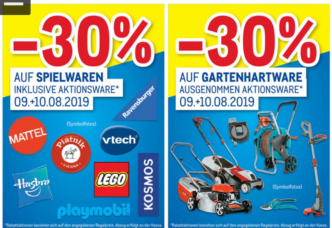 [Metro] -30% auf alle Spielwaren inkl. Aktionen z.B. Lego uvm. & -30% auf alle Gartengeräte z.B. Rasenmäher uvm.