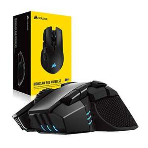 Corsair Ironclaw Wireless RGB, Wiederaufladbare Optisch Gaming Maus mit Slipstream Technologie