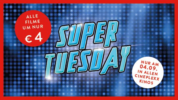 [Cinexplexx] SUPER TUESDAY am 4.9 alle Kinotickets um nur 4€