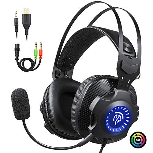 Gaming Kopfhörer, EasySMX USB+3.5mm Noise Cancelling Headset zum Hammerpreis!