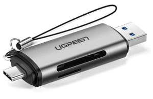 UGREEN USB 3.0/USB C 2 in 1 Kartenleser