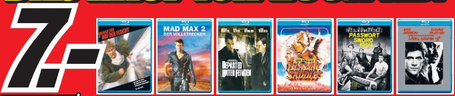 [Lokal] Blu-ray Schnäppchen ab 7€ im Media Markt