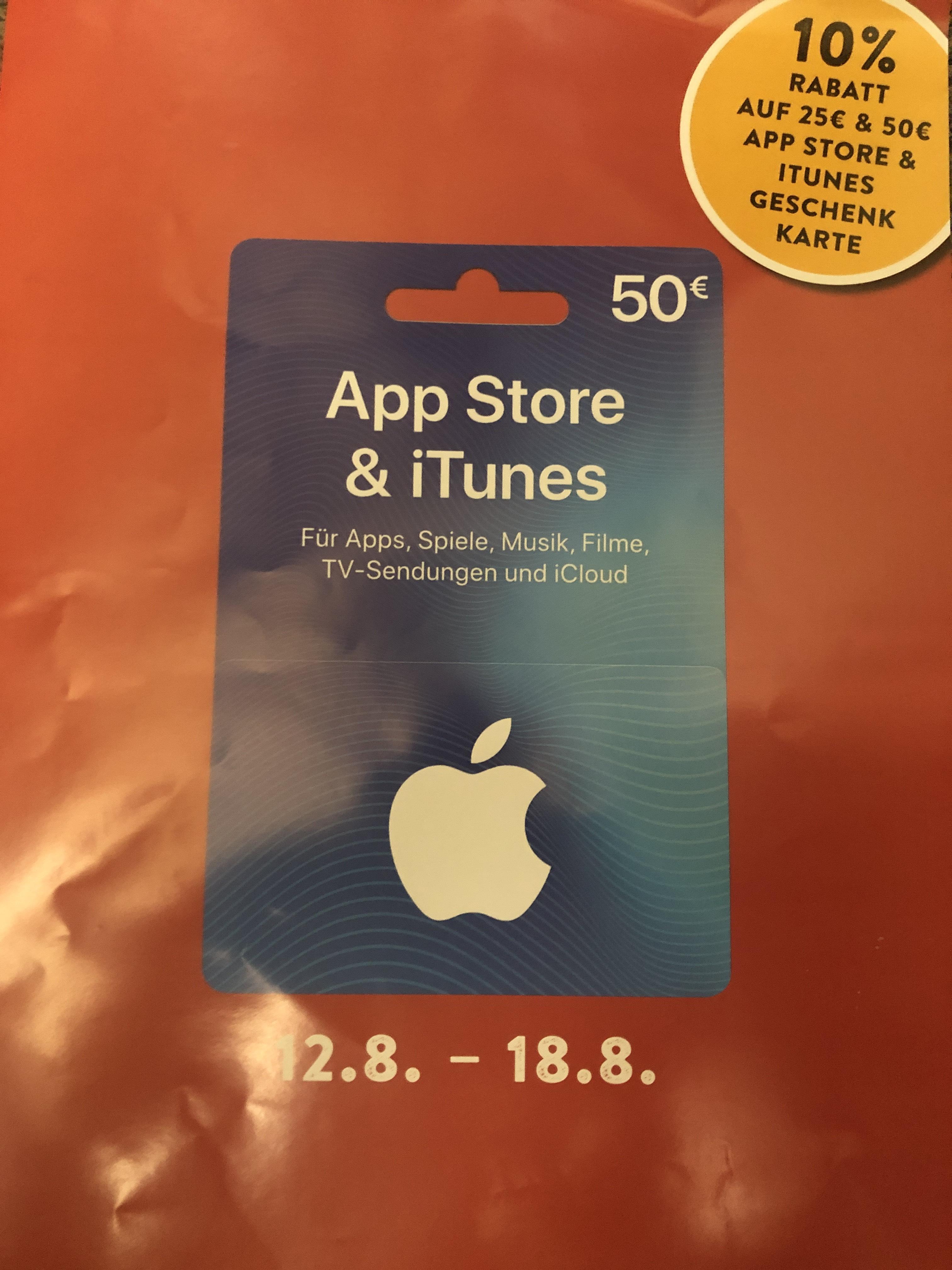 [Trafiken] App Store und iTunes Geschenkkarten: 10 % Rabatt auf 25 € und 50 € iTunes Geschenkkarte