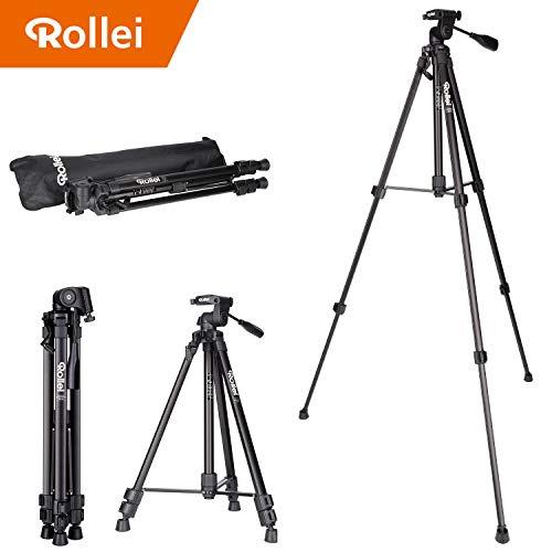 Rollei Compact Traveler Star S2 kompaktes Videostativ (aus Aluminium, bis zu 3 kg Traglast)