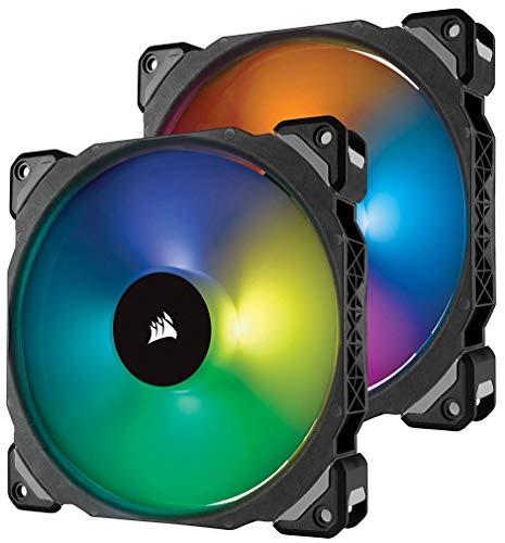 Corsair ML140 PRO RGB LED 140 mm PWM Gehäuselüfter 2er-Pack mit Lighting Node und Hub