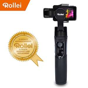 Rollei Actioncam Gimbal Steady Butler Action -3 Achsen Schwebestativ (Stabilisator/Steadycam) für Actioncams mit integrierter Power Bank