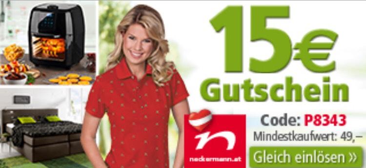 15€ Gutschein Neckermann