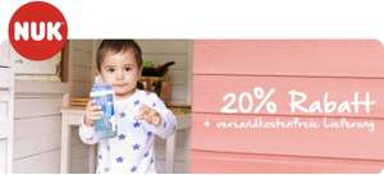 Nuk: 20% auf alles + Gratis Versand