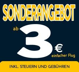 Ryanairflüge für 3€ pro Strecke (zzgl. 5€ Kreditkartengebühr) *Update*