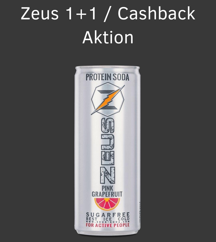 Zeus Protein Soda Pink Grapefruit 1+1 oder mit Cashback gratis