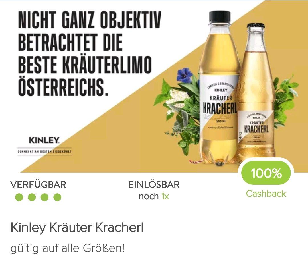 Kinley Kräuter Kracherl mit Marktguru Cashback gratis