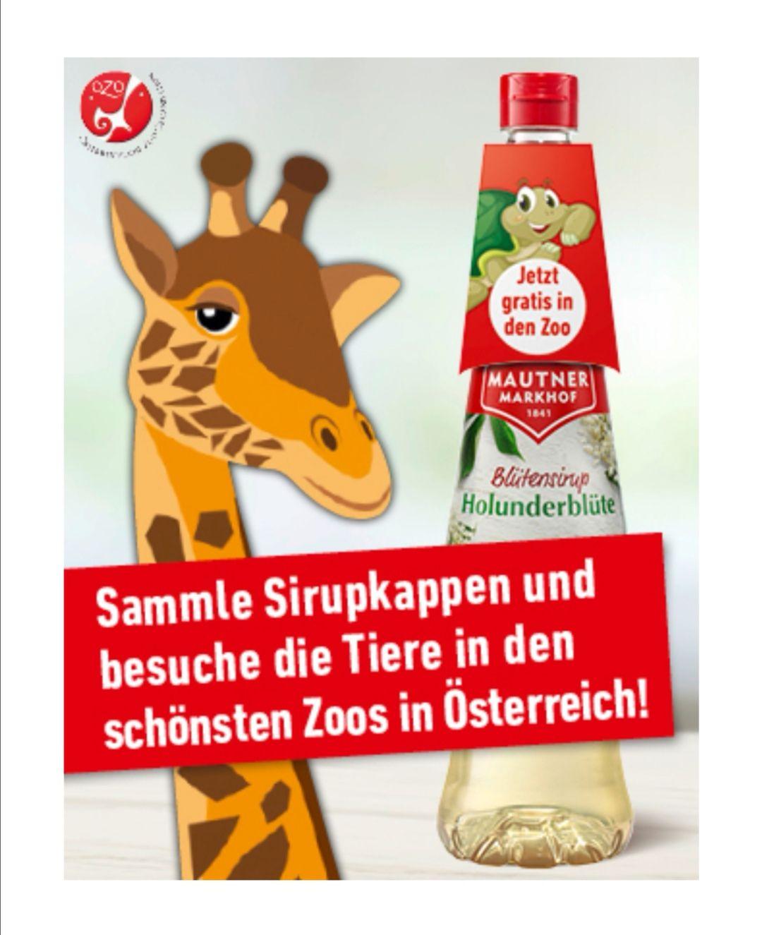 Mit Mautner Sirup Kappen Gratis Kinder Eintritt in österreichs Zoo's