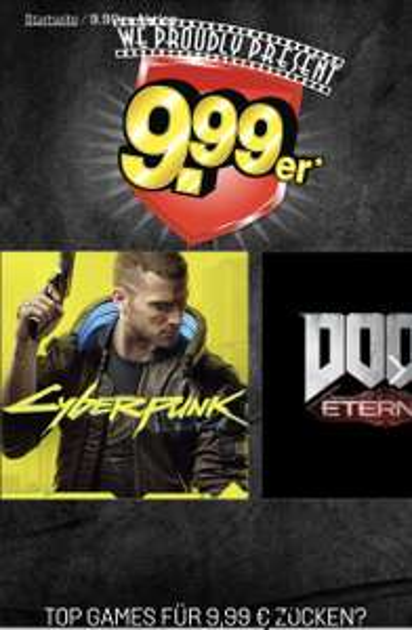 9.99er Gamestop Aktion: Borderlands 3 / CoD: Modern Warfare / Cyberpunk 2077 / Doom Eternal / FIFA20 / The Outer Worlds / u.a.