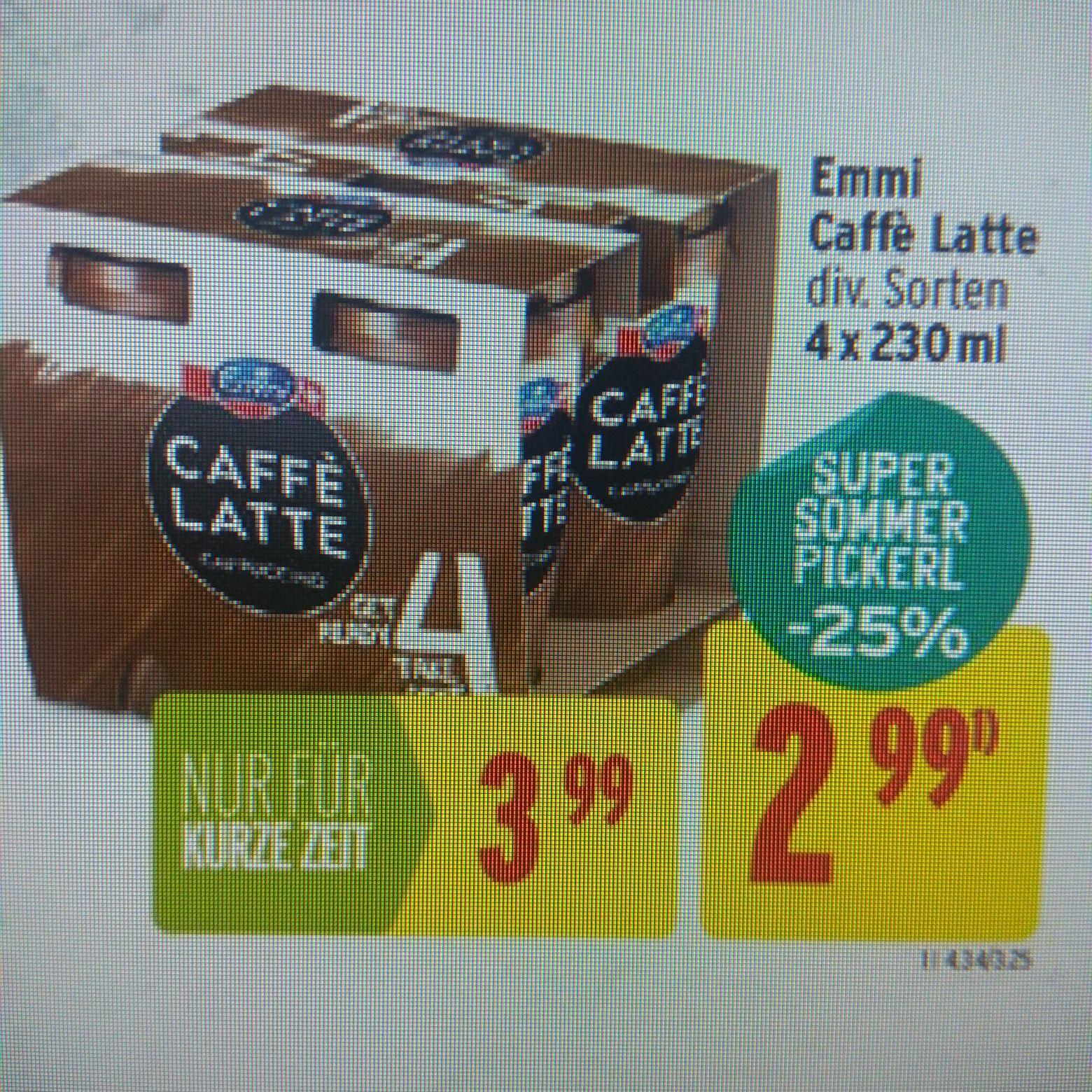 Emmi Cafe Latte oder Cappuccino.