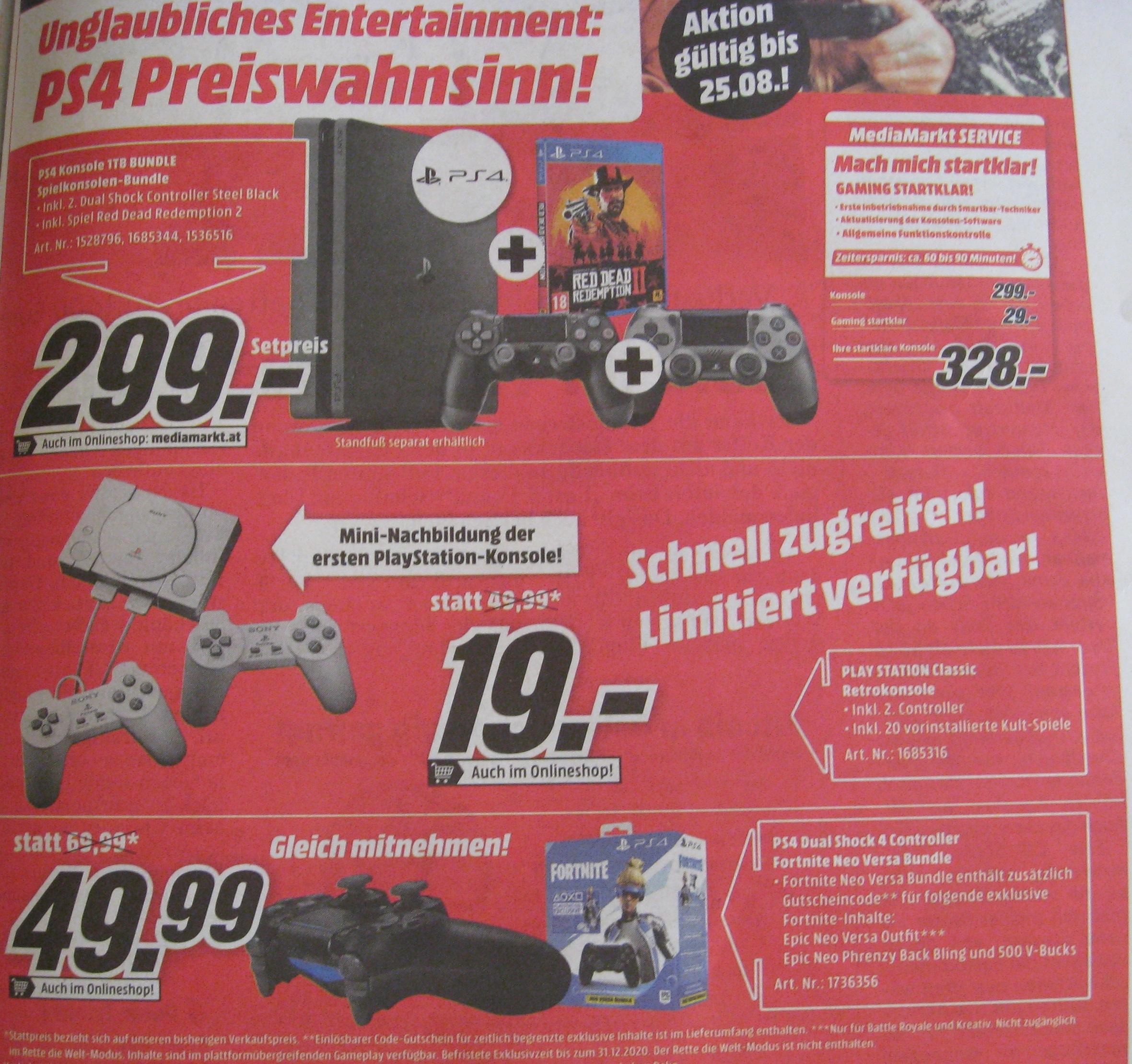 Playstation Classic für 19 Euro bei Media Markt und GameStop