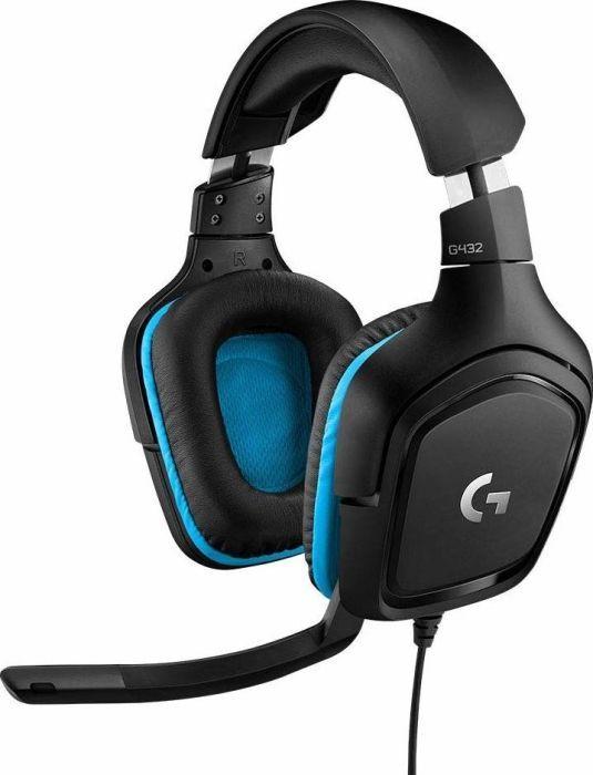Logitech G432 Gaming-Kopfhörer (mit 7.1 Surround Sound, 50 mm Klangtreiber, DTS Headphone:X 2.0, Mikrofon mit Flip-Stummschalter)