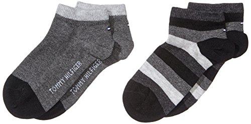 [Sockenjäger] Tommy Hilfiger Unisex Kinder Socken, 2er pack, Größen 31-34 und 39-42