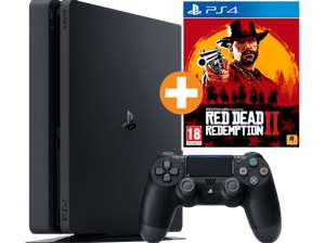 SONY PlayStation 4 Slim Konsole 1 TB + Red Dead Redemption 2 + Controller