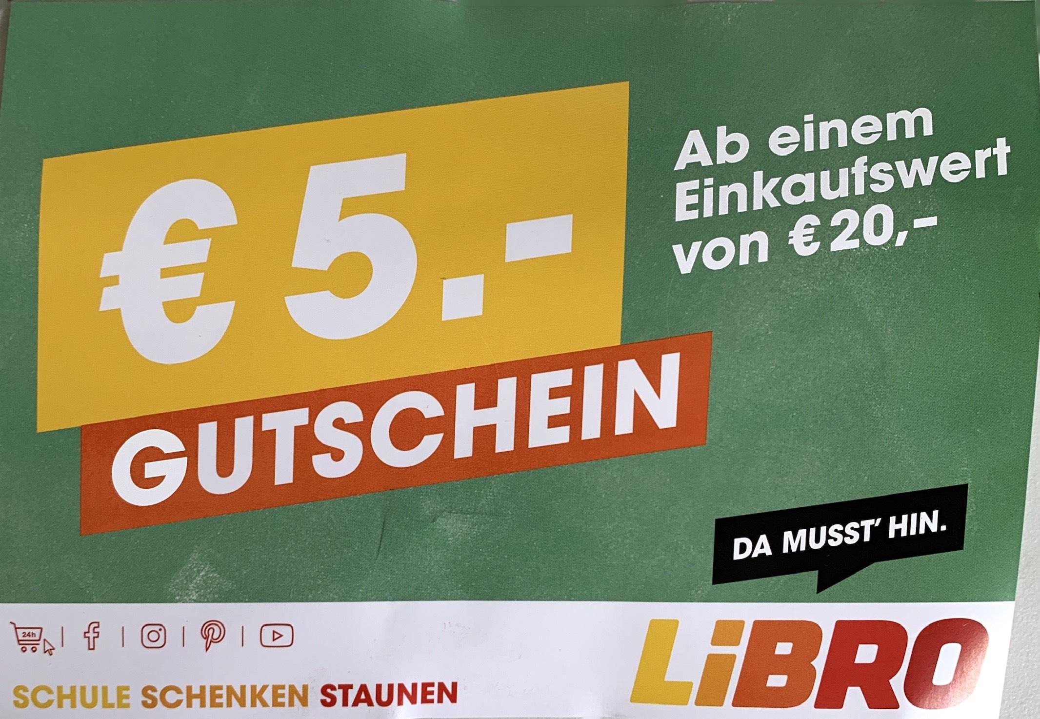 Libro: 5€ Gutschein ab 20€ Einkaufswert.