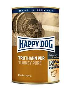 12x400g Happy Dog Hundefutter, Truthahn