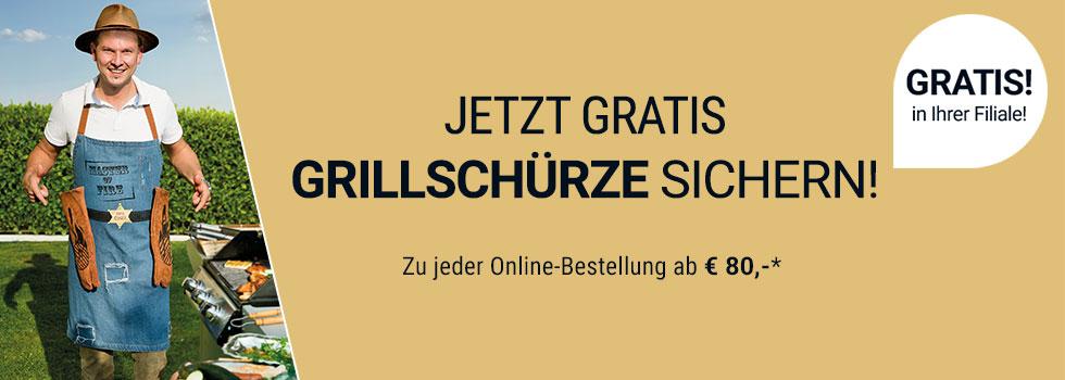 Eduscho/Tchibo: Gratis Grillschürze um 39,95 bei jeder Online-Bestellung ab 80 Euro