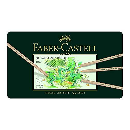 Faber-Castell 112160 - Farbstift Pitt Pastell, 60er Metalletui