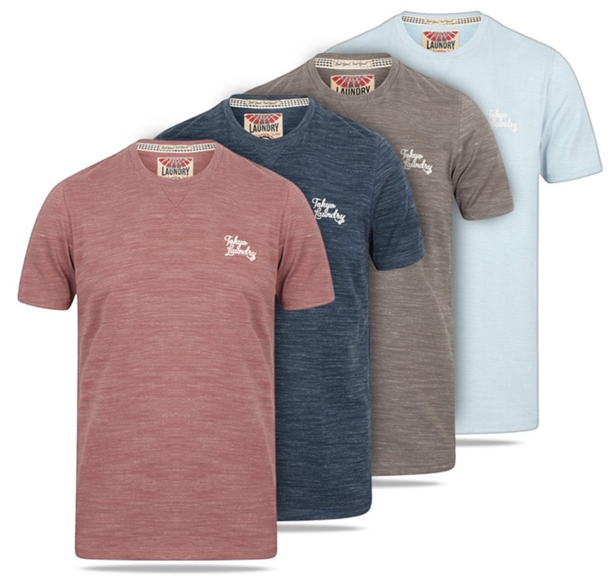 Tokyo Laundry Sun Lake Crew Neck Herren T-Shirt in 4 verschiedenen Farben