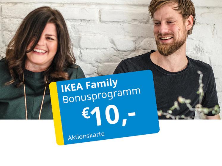 IKEA Family: 10€ Aktionskarte ab 3 Einkäufen mit insgesamt 300€