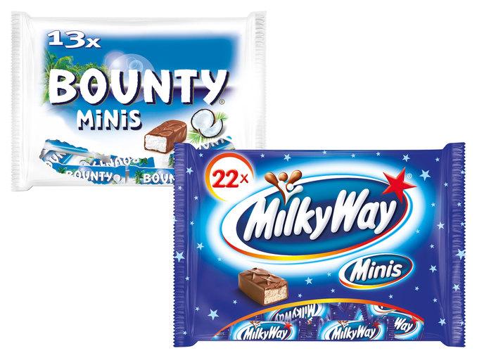 MilkyWay, Bounty, Mars oder Twix-Minis