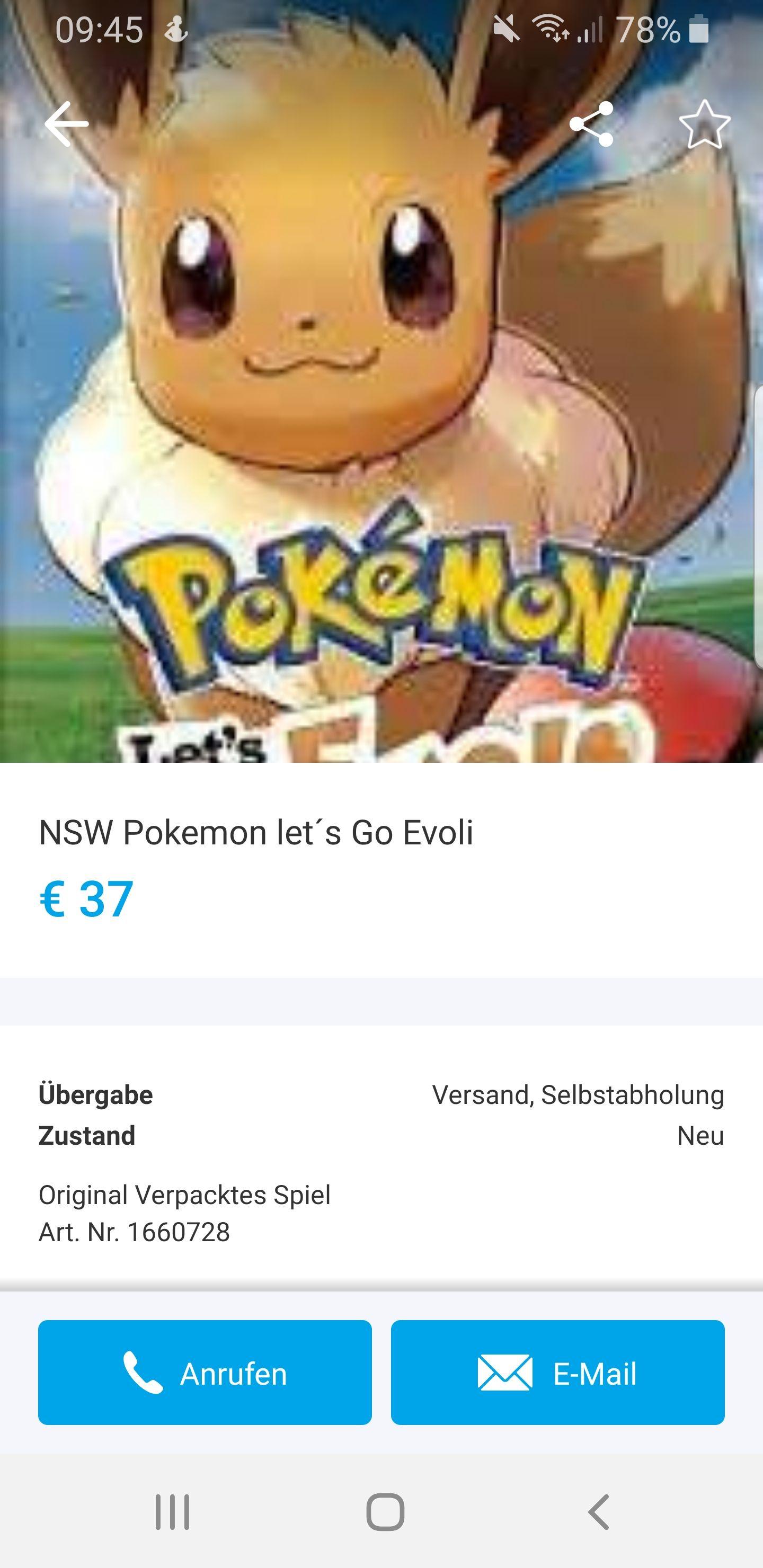 Pokemon lets go evoli Mediamarkt Murpark