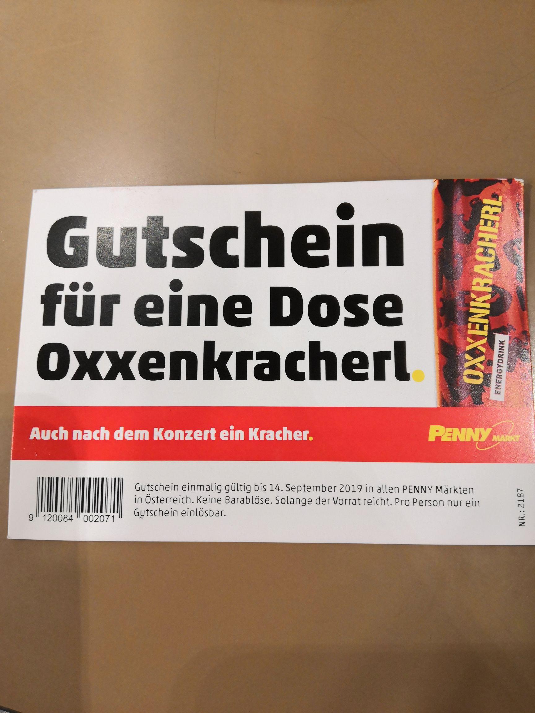 Penny: Gratis Dose Oxxenkracherl