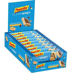 [Amazon] PowerBar Clean WheyProtein Riegel Cookies und Cream (18 x 45g) im Sparabo
