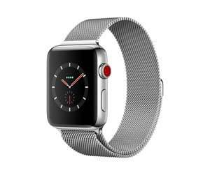 Apple Watch 3 (42mm, Edelstahl, LTE) + Milanaise Armband