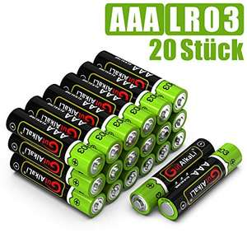 20x AAA GutAlkaLi Batterien