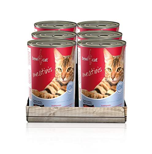 """(Preisfehler) 6x 400g bewi cat """"Meatinis Lachs"""" Nassfutter für Katzen"""