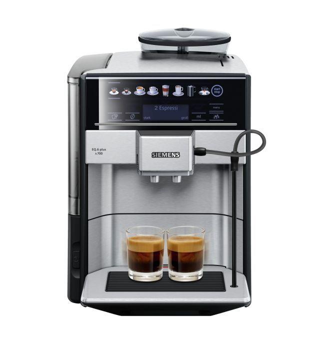 Siemens EQ.6 plus s700 Kaffeevollautomat (1500 Watt, Keramikmahlwerk, Touch-Sensor-Direktwahltasten, personalisierte Getränke)