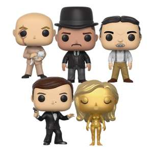 [Zavvi] 5 Figuren der James Bond Pop! Vinyl Collection