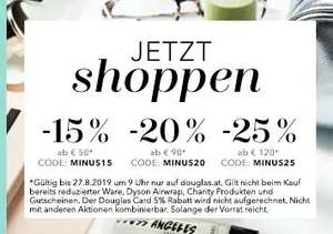 douglas.at bis zu -25% Staffelrabatt