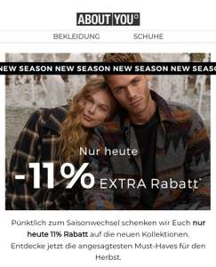 aboutyou.at -11% auf fast alle Artikel