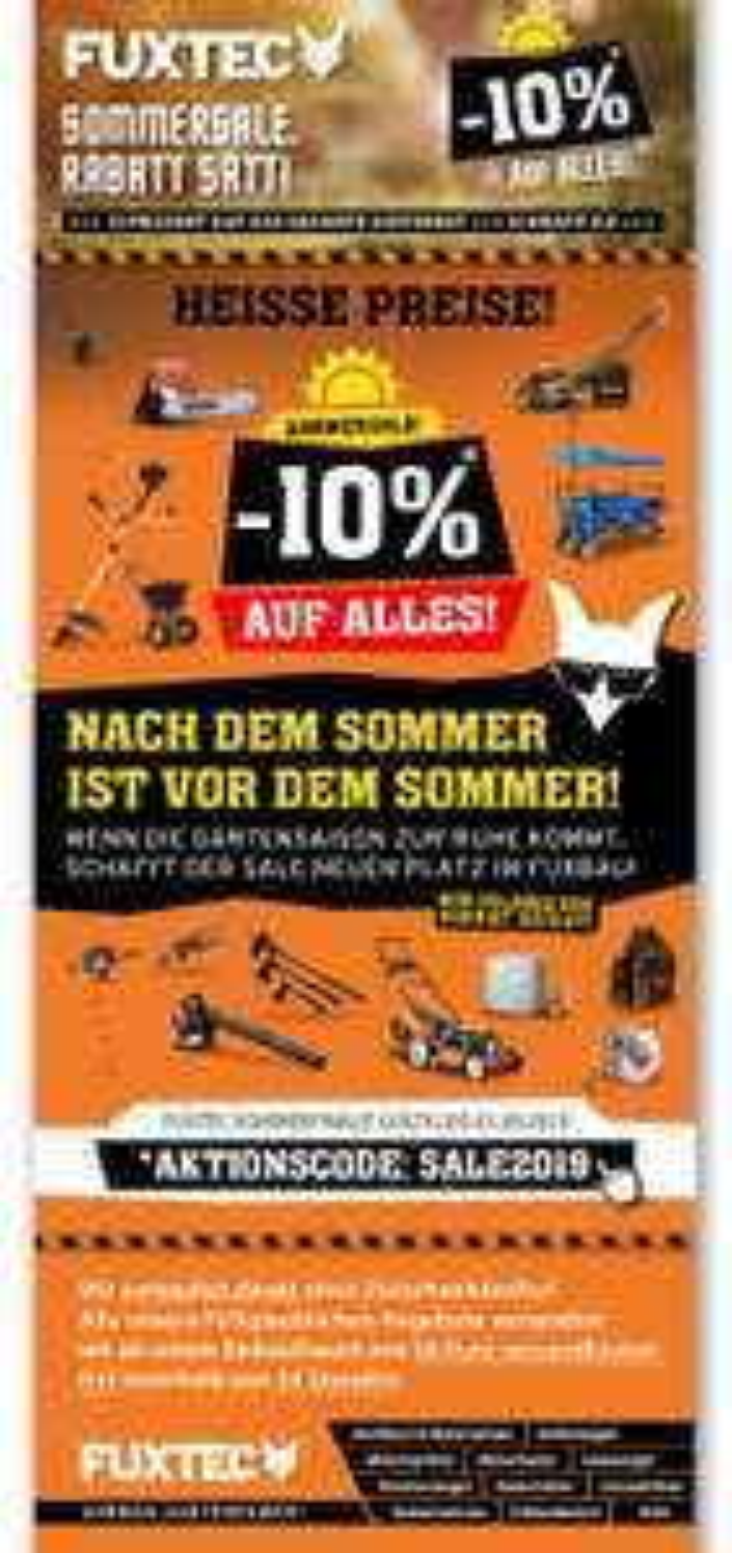 fuxtec.de -10% auf ALLES