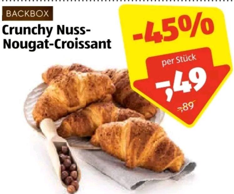 Crunchy Nuss Nougat Croissant mit Marktguru Cashback