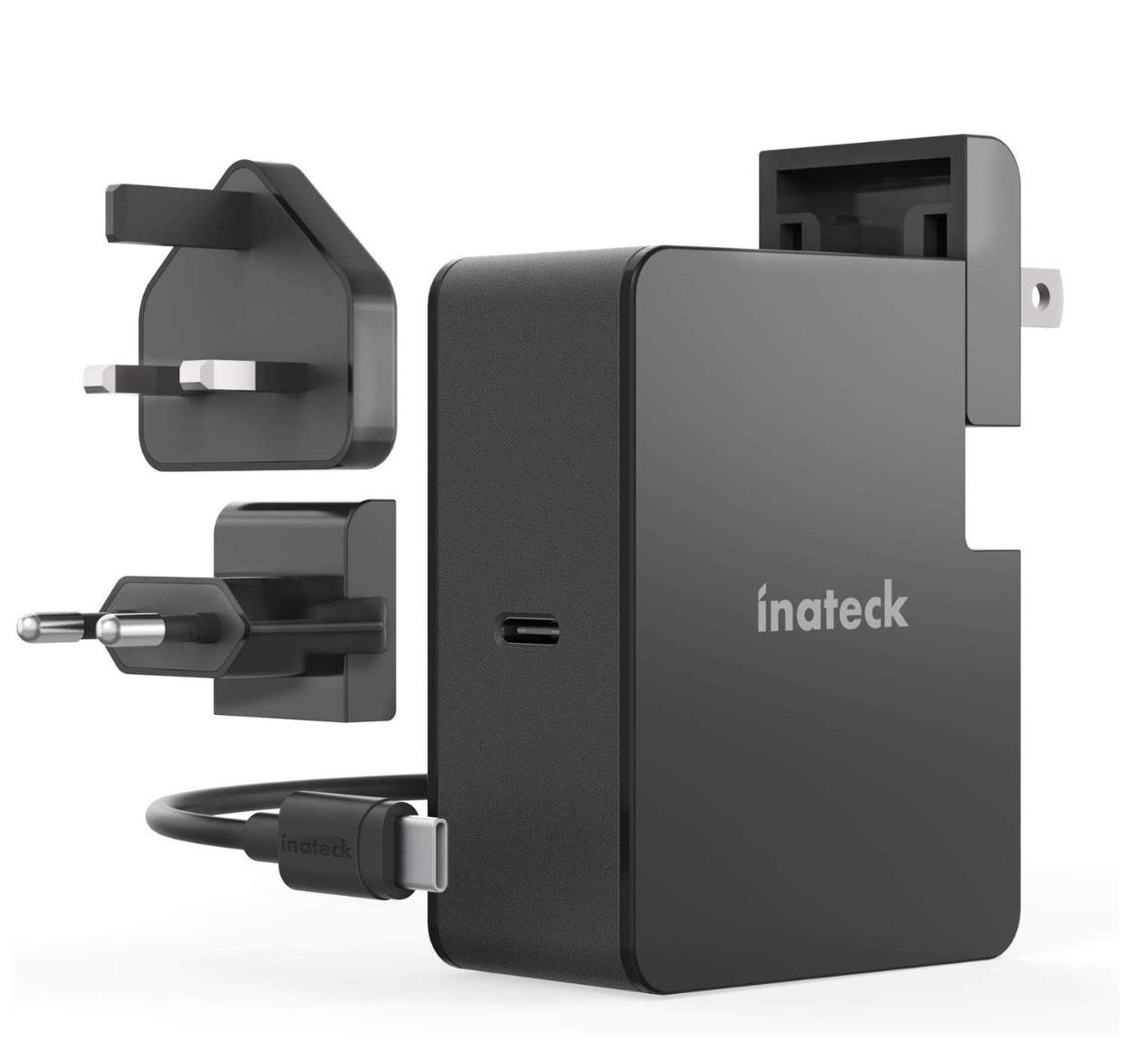 Inateck 45W USB C Ladegerät mit 2 m USB C Kabel, Power Delivery Type C