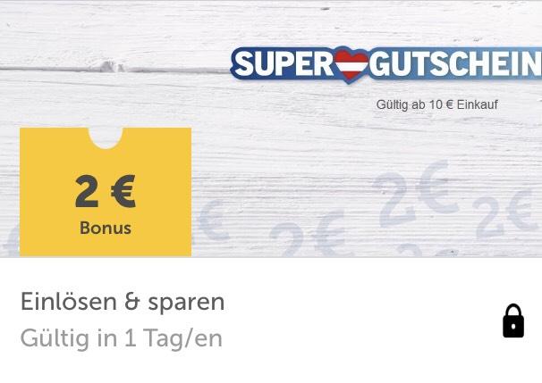 2 x Lidl-Supergutscheine: jeweils € 2,— ab € 10,— Einkaufswert