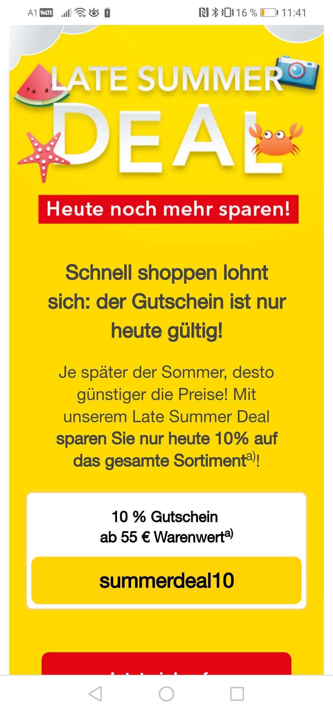10% Sparen bei der Shop Apotheke nur heute gültig ab 55€