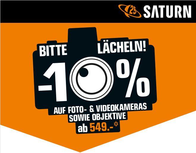 saturn.at -10% auf Foto- und Videokameras sowie Objektive ab 549€