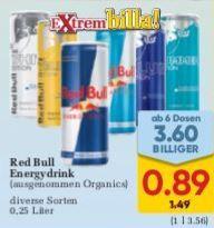 BILLA | Red Bull ab 6 Dosen div. Sorten von Do 29.08. bis Mi 11.09.