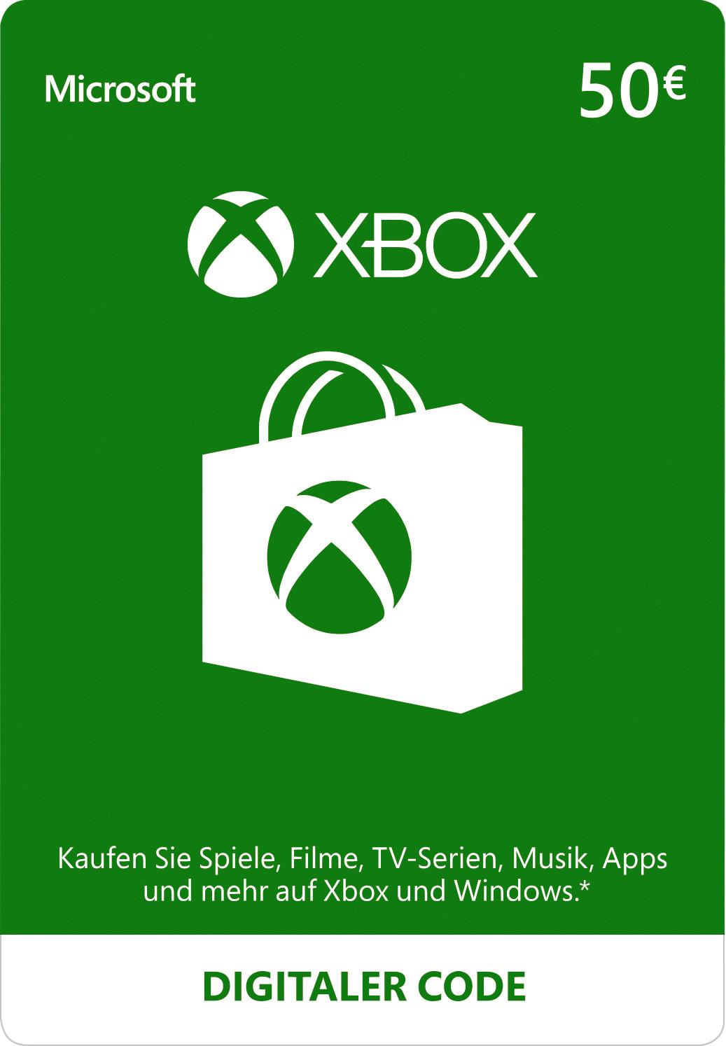 XBOX Live 50€ Keycard