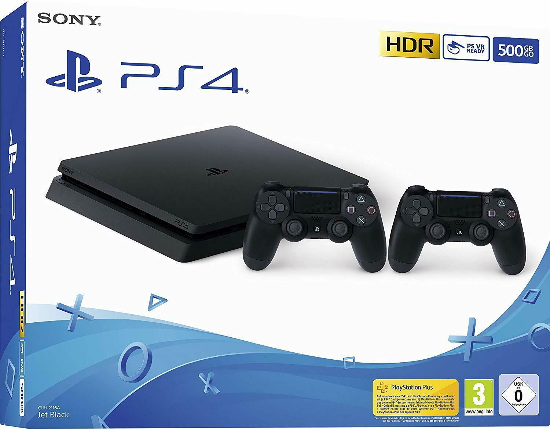 PlayStation 4slim 500GB schwarz inkl. 2. Controller